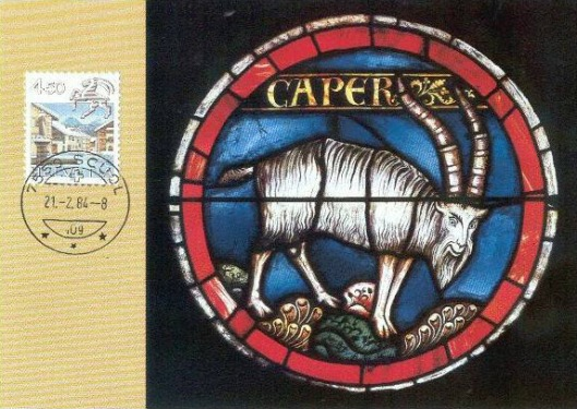 Switzerland-1982-maxicard-10-capricornus